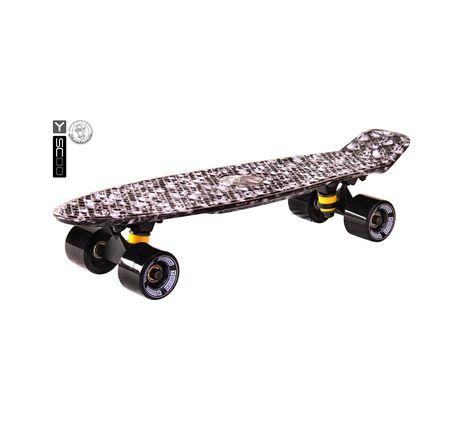 "401G-Sc Скейтборд Y-SCOO Fishskateboard Print 22"" винил 56,6х15 с сумкой Scull"